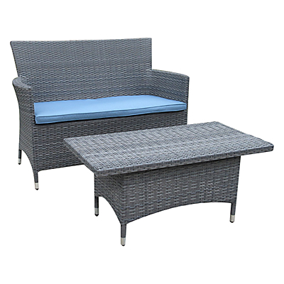 John Lewis Malaga 2-Seat Sofa and Coffee Table Set
