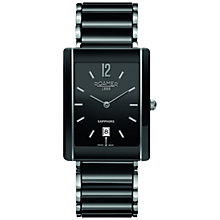 Buy Roamer 690856 41 54 60 Men's Ceralime Saphira Square Watch, Black Online at johnlewis.com