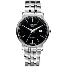 Buy Roamer 709856 41 55 70 Men's Classic Line Watch, Silver / Black Online at johnlewis.com