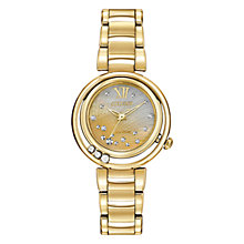 Buy Citizen L Sunrise EM0322-53Y Women's Diamond and Mother of Pearl Eco-Drive Stainless Steel Watch, Pearl / Gold Online at johnlewis.com