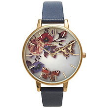 Buy Olivia Burton OB14WG03 Winter Garden Floral Watch, Navy Online at johnlewis.com