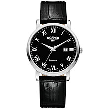 Buy Roamer 709856 41 52 07 Men's Classic Watch, Black / Silver Online at johnlewis.com
