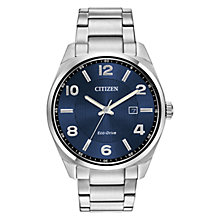 Buy Citizen Men's Sports Eco-Drive Stainless Steel Bracelet Strap Watch Online at johnlewis.com