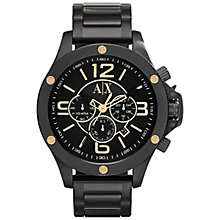 Buy Armani Exchange AX1513 Men's Street Chronograph Watch, Black Online at johnlewis.com