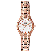 Buy Citizen EW1263-52A Women's Silhouette Stainless Steel Bracelet Watch, Rose Gold/White Online at johnlewis.com