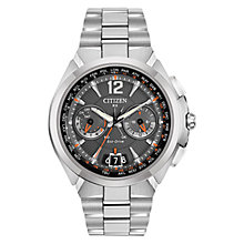 Buy Citizen Satellite Wave CC1090-61E Men's Chronograph Eco-Drive Stainless Steel Watch, Grey / Silver Online at johnlewis.com