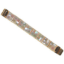 Buy Alice Joseph Vintage Mother Of Pearl Squares Bracelet, Silver Online at johnlewis.com