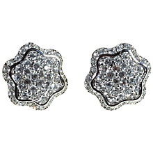 Buy Alice Joseph Vintage Swarovski Diamante Clip-On Earrings, White Online at johnlewis.com