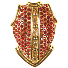 Buy Alice Joseph Vintage Swarovski Diamante Placzari Brooch, Pink / Gold Online at johnlewis.com