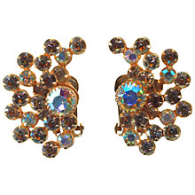 Buy Alice Joseph Vintage 1950s Diamante Aurora Borealis Clip-On Earrings, Green Online at johnlewis.com