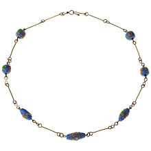 Buy Alice Joseph Vintage 1930s Lampworked Beads Necklace, Blue Online at johnlewis.com