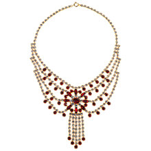 Buy Alice Joseph Vintage 1950s American Diamante Necklace, Red / White Online at johnlewis.com