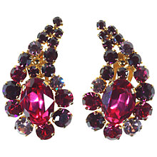Buy Alice Joseph Vintage 1950s Diamante Clip-On Earrings, Pink / Purple Online at johnlewis.com