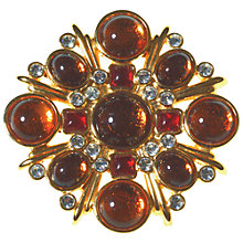 Buy Alice Joseph Vintage 1980s Topaz and Red Cabachons Brooch Online at johnlewis.com