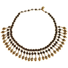 Buy Alice Joseph Vintage 1980s Glass Bead Necklace, Black Online at johnlewis.com