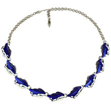 Buy Alice Joseph Vintage 1960s Lisner Moulded Resin Oak Leaf Necklace, Blue Online at johnlewis.com