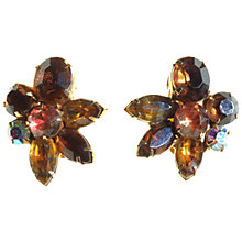 Buy Alice Joseph Vintage 1950s Kramer Diamante Clip-On Earrings, Blue / Green Online at johnlewis.com
