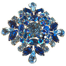 Buy Alice Joseph Vintage 1950s Sherman Diamante Brooch, Blue Online at johnlewis.com