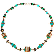 Buy Alice Joseph Vintage Edwardian Jade And Black Bead Necklace, Black / Green Online at johnlewis.com