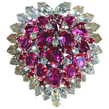 Buy Alice Joseph Vintage 1969 Christian Dior Diamante Brooch, Fuschia Online at johnlewis.com