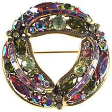 Buy Alice Joseph Vintage 1950s Hollycraft Diamante Aurora Borealis Brooch, Green Online at johnlewis.com