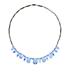 Buy Alice Joseph Vintage 1930s Deco Bead Necklace, Blue Online at johnlewis.com