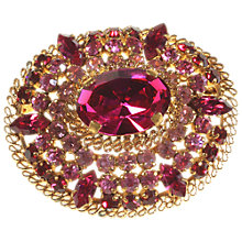 Buy Alice Joseph Vintage 1950s Pink Diamante Brooch, Pink Online at johnlewis.com