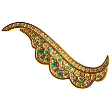 Buy Alice Joseph Vintage Swarovski Diamante Brooch, Green / Lemon Online at johnlewis.com