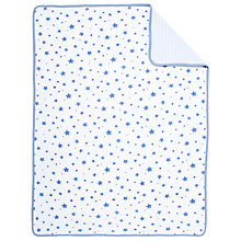 Buy John Lewis Baby Star Swaddling Blanket, Blue Online at johnlewis.com