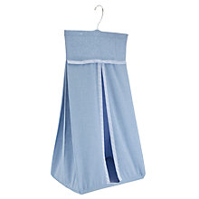 Buy John Lewis Baby Chambray Nappy Stacker, Blue Online at johnlewis.com