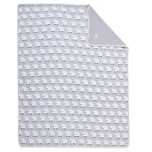 Buy John Lewis Baby Sheep Swaddling Pram Blanket, Grey Online at johnlewis.com