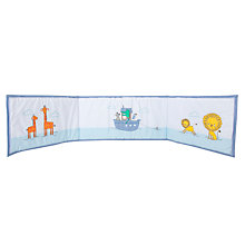 Buy John Lewis Baby Noah's Ark Bumper, Blue Online at johnlewis.com
