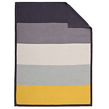 Buy John Lewis Stripe Pram Blanket, Grey/Yellow Online at johnlewis.com