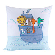 Buy John Lewis Baby Noah's Ark Cushion, Blue Online at johnlewis.com