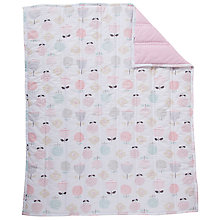 Buy John Lewis Floral and Chambray Cot/Cotbed Quilt Online at johnlewis.com