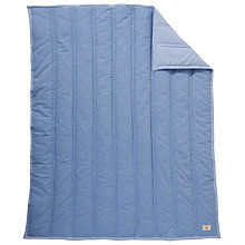 Buy John Lewis Baby Chambray Cot/Cotbed Quilt, Blue Online at johnlewis.com