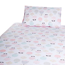 Buy John Lewis Baby's Floral Duvet Cot/Cotbed Cover Set, Pink Online at johnlewis.com