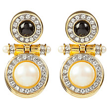 Buy Susan Caplan Vintage 1960's Richelieu Faux Pearl Drop Earrings, Pearl / Black Online at johnlewis.com