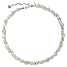 Buy Susan Caplan Vintage 1960s Trifari Silver Ribbon and Swarovski Crystal Necklace, Silver Online at johnlewis.com