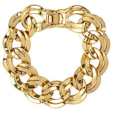 Buy Susan Caplan Vintage 1980s Monet Double Link Bracelet, Gold Online at johnlewis.com
