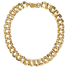Buy Susan Caplan Vintage 1980s Monet Double Link Necklace, Gold Online at johnlewis.com