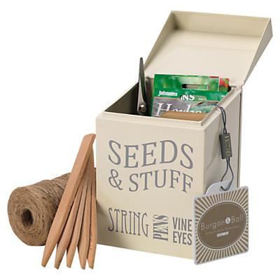 Burgon & Ball Seeds and Stuff Tin, Cream
