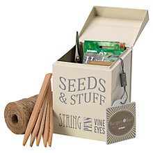 Buy Burgon & Ball Seeds and Stuff Tin, Cream Online at johnlewis.com