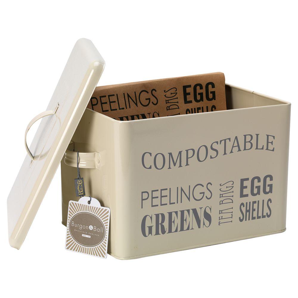 Burgon & Ball Compost Bin, Cream