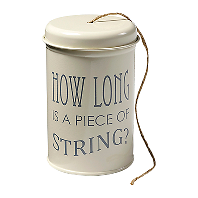 Burgon & Ball 120m Jute String in an Enamel Tin, Cream