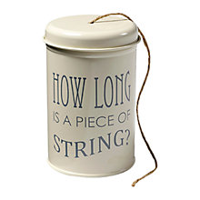 Buy Burgon & Ball 120m Jute String in an Enamel Tin, Cream Online at johnlewis.com