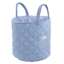 Buy John Lewis Baby's Chambray Storage Bag, Blue Online at johnlewis.com