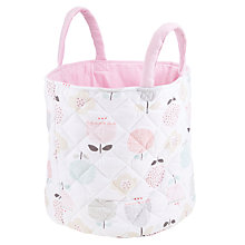 Buy John Lewis Baby Floral Storage Bag, Pink Online at johnlewis.com