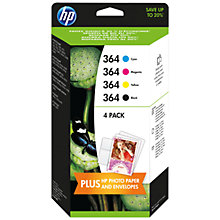 Buy HP 364 Photosmart Ink Cartridge, Black, Cyan, Magenta and Yellow Combo Pack, J3M82AE Online at johnlewis.com