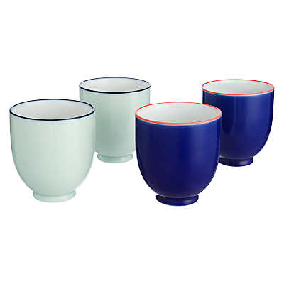 John Lewis Oriental Tea Cups, Set of 4, Red/Blue